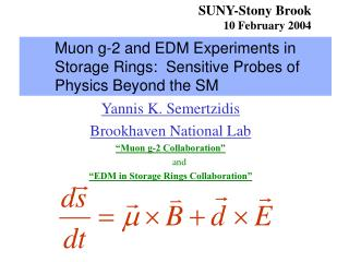 Muon g-2 and EDM Experiments in Storage Rings:  Sensitive Probes of Physics Beyond the SM