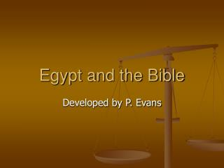 Egypt and the Bible