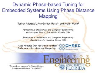 Dynamic Phase-based Tuning for Embedded Systems Using Phase Distance Mapping