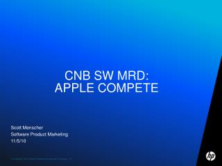 cNB SW  Mrd : Apple compete