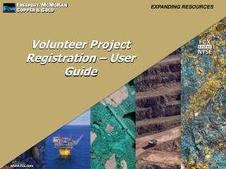 Volunteer Project Registration – User Guide