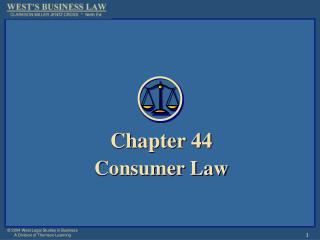 Chapter 44 Consumer Law