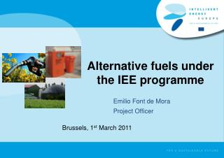 Alternative fuels under the IEE programme