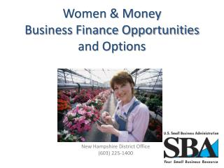 Women & Money Business Finance Opportunities and Options