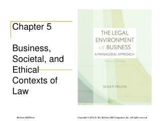 Chapter 5 Business, Societal, and Ethical Contexts of Law