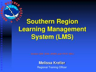 Southern Region  Learning Management System (LMS)
