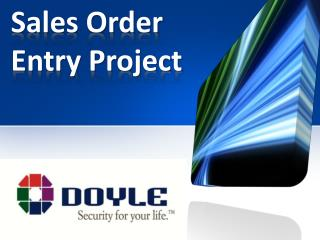 Sales Order Entry Project