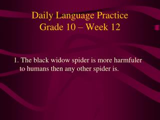 Daily Language Practice Grade 10 – Week 12