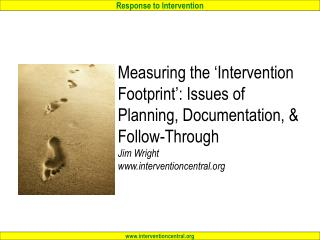 'Elbow Group' Activity:  Defining 'Interventions'