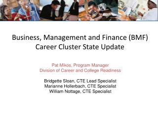 Business, Management and Finance (BMF) Career Cluster State Update