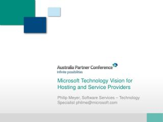 Microsoft Technology Vision for Hosting and Service Providers
