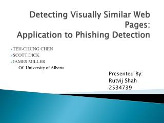 Detecting Visually Similar Web Pages: Application to Phishing Detection