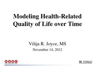 Modeling Health-Related Quality of Life over Time