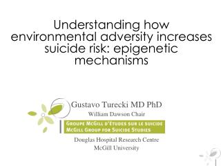 Understanding how environmental adversity increases suicide risk: epigenetic mechanisms