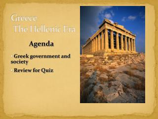 Greece  The Hellenic Era