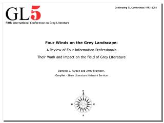 Fifth International Conference on Grey Literature