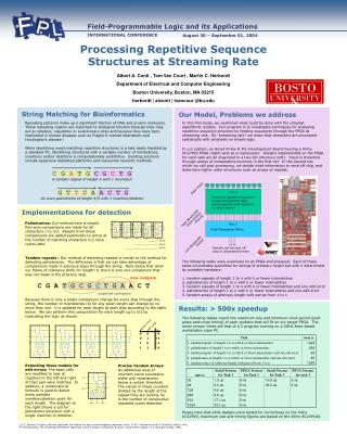 Processing Repetitive Sequence Structures at Streaming Rate