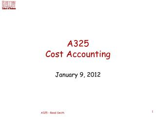 A325 Cost Accounting