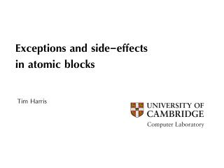 Exceptions and side-effects in atomic blocks