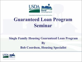 Guaranteed Loan Program Seminar