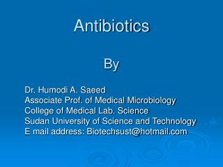 Antibiotics By