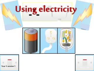 Using electricity