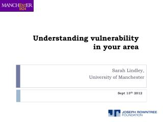 Understanding vulnerability in your area