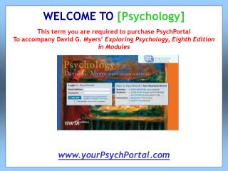 This term you are required to purchase PsychPortal