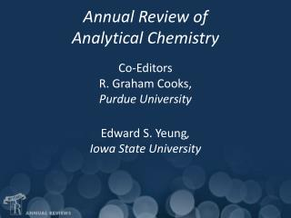 Annual Review of  Analytical Chemistry