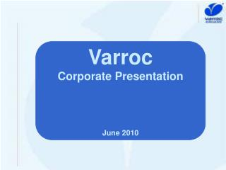 Varroc Corporate Presentation June 2010