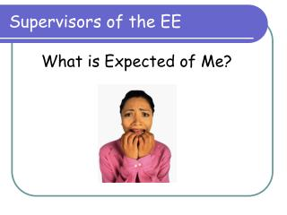 Supervisors of the EE