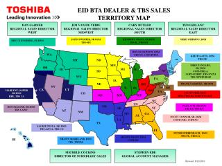 EID BTA DEALER & TBS SALES TERRITORY MAP