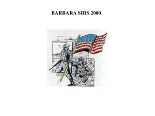 BARBARA SIRS 2000