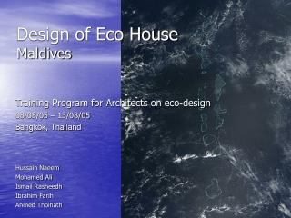 Design of Eco House Maldives