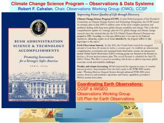 Climate Change Science Program – Observations & Data Systems