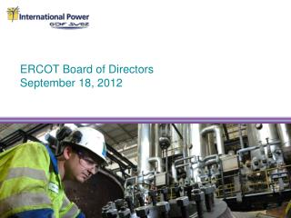 ERCOT Board of Directors September 18, 2012
