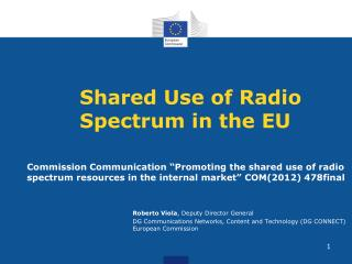 Shared Use of Radio Spectrum in the EU