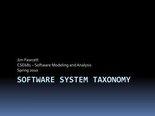 Software system taxonomy