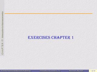 Exercises Chapter 1