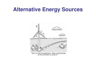 Alternative Energy Sources