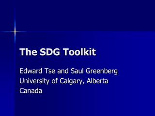 The SDG Toolkit
