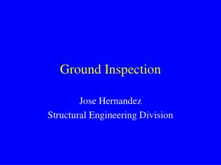 Ground Inspection
