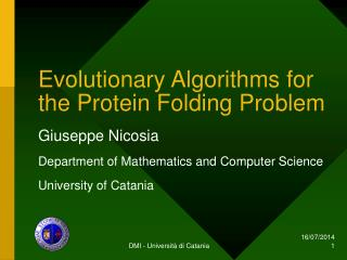 Evolutionary Algorithms for the Protein Folding Problem