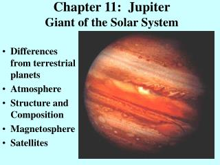 Chapter 11:  Jupiter Giant of the Solar System