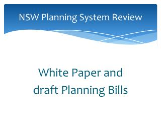 NSW Planning System Review