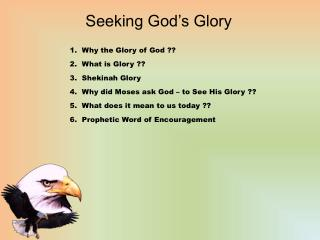 Seeking God's Glory