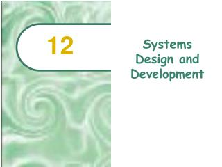 Systems Design and Development