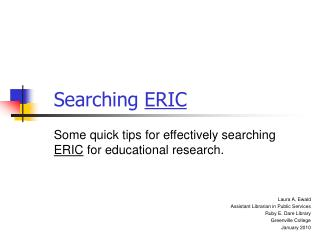 Searching  ERIC