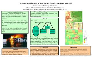 A flood-risk assessment of the Colorado Front Range region using GIS