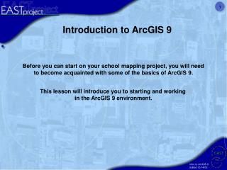 Introduction to ArcGIS 9